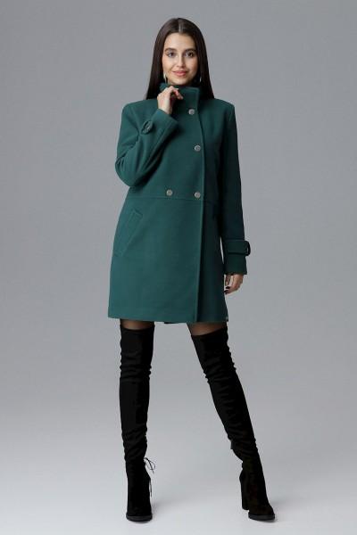 Dámský kabát Figl M623 zelený