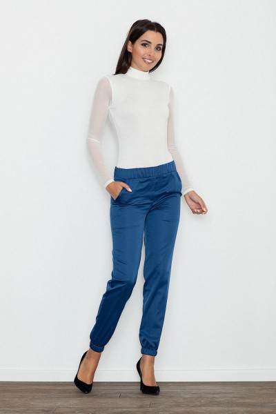 Dámské kalhoty Figl M556 modré - výprodej velikost M