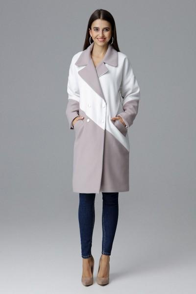 Dámský kabát Figl M626 béžová bílá