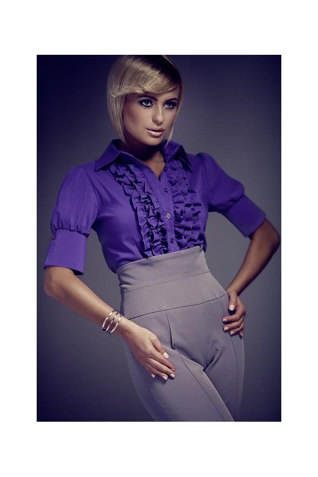 Košile Figl 25 tmavě fialová