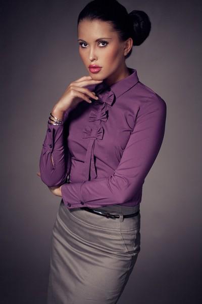 Košile Figl 1 tmavěfialová