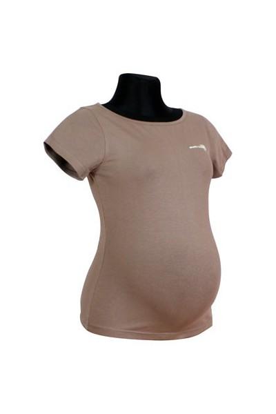 Těhotenské triko Basic beige