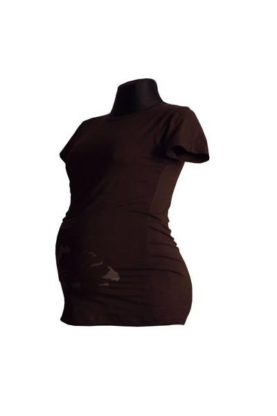 Těhotenské tričko s motivem ultrazvuku hnědé