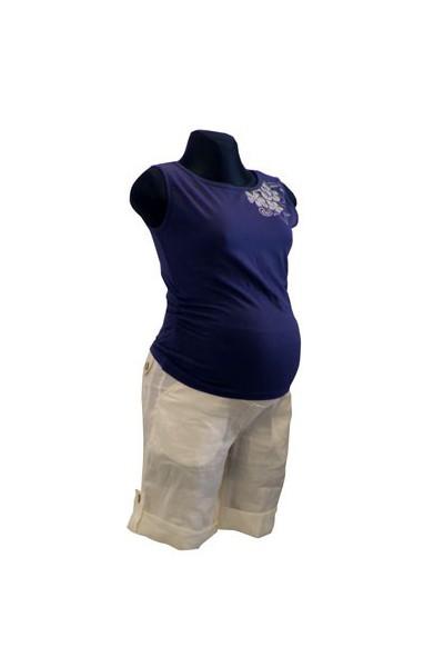 Těhotenské kraťasy Sandy white