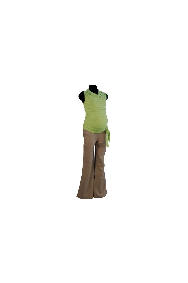 Těhotenské kalhoty Romana beige