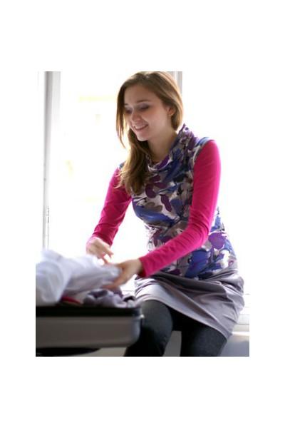 Těhotenské šaty Katy grey