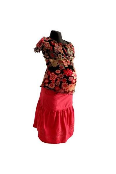Těhotenská sukně Gabi coral