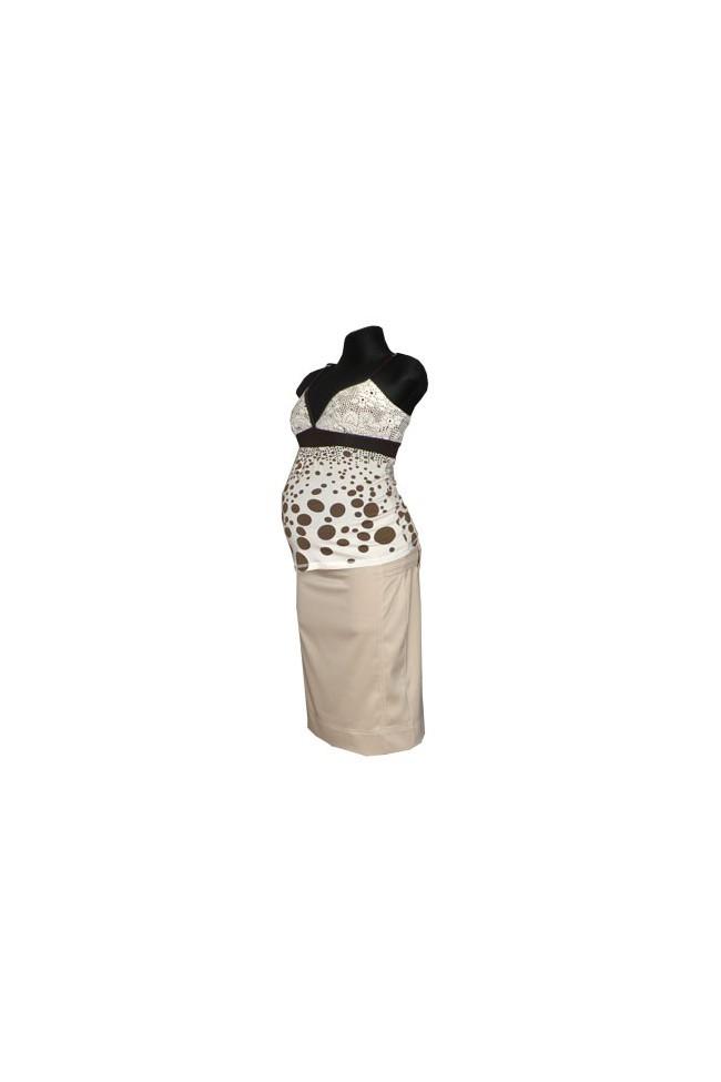 Těhotenská sukně Lara beige