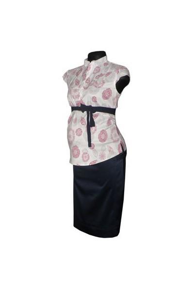 Těhotenská sukně Lara granat