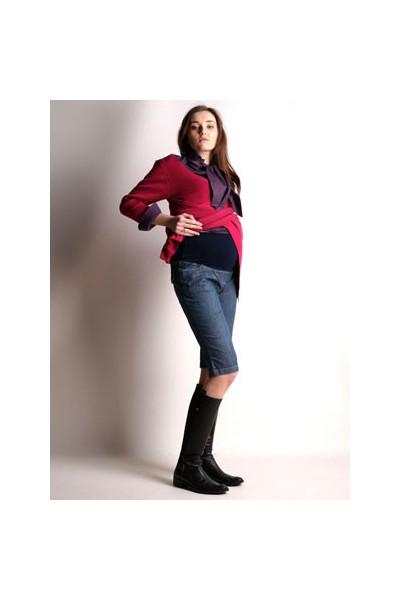 Těhotenské džínové šortky Vanesa blue