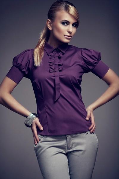 Košile Figl 8 tmavě fialová