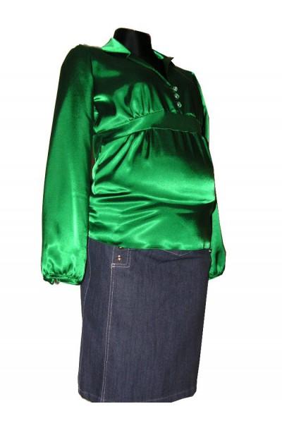 Těhotenská halenka Asia green