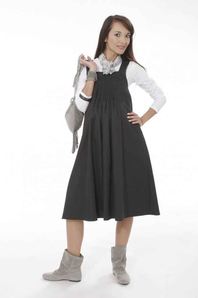 Těhotenské šaty Julita cotton black