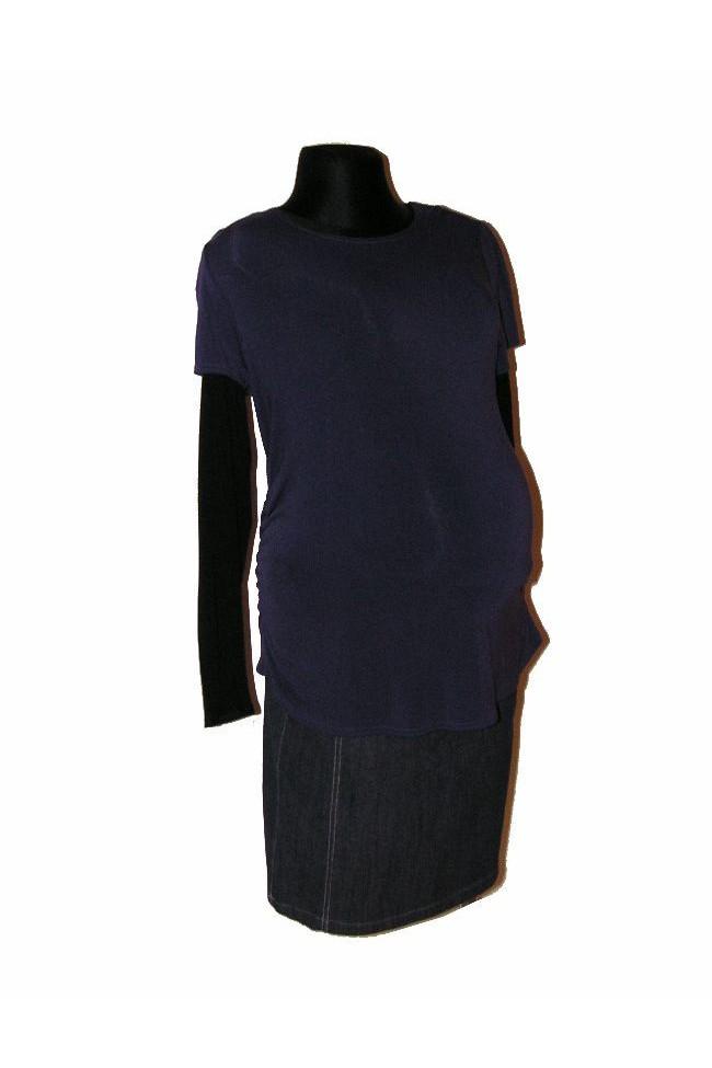 Těhotenské triko Olivie purple