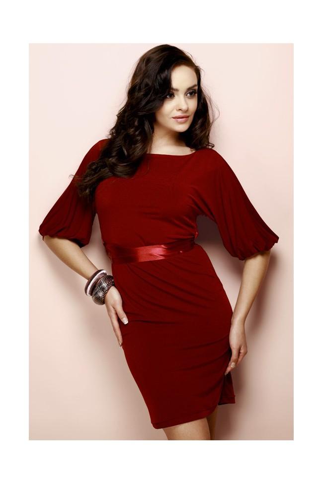 Šaty Figl 3 tmavě červená