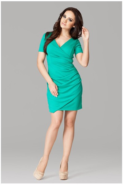 Dámské šaty Figl 106 zelené