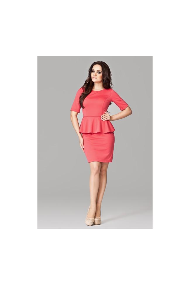 Dámské šaty Figl 101 korálové