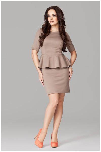 Dámské šaty Figl 101 mocca