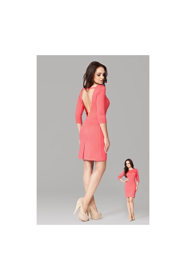 Dámské šaty Figl 104 korálové