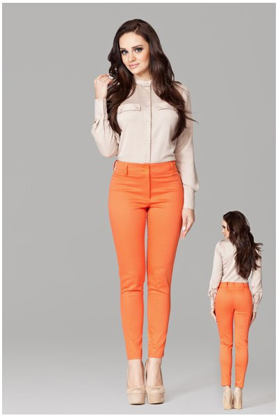 Dámské kalhoty Figl 109 oranžové