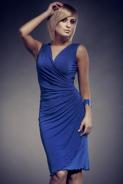 Dámské šaty Figl 53 modré