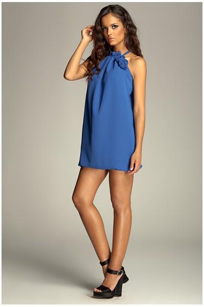 Dámské šaty Figl 65 modré