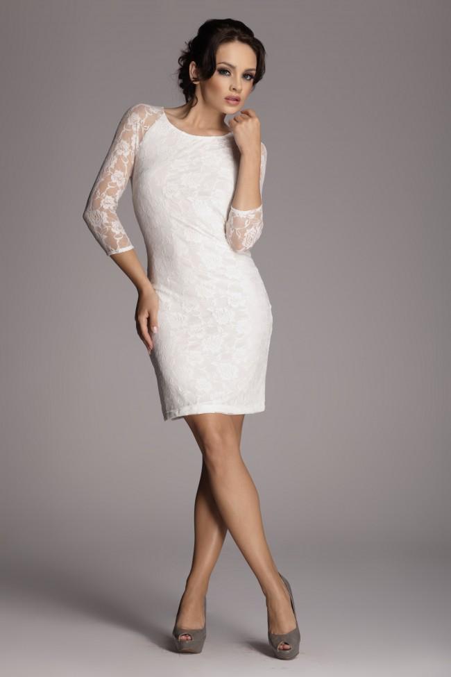 Dámské šaty Figl 76 slonovina