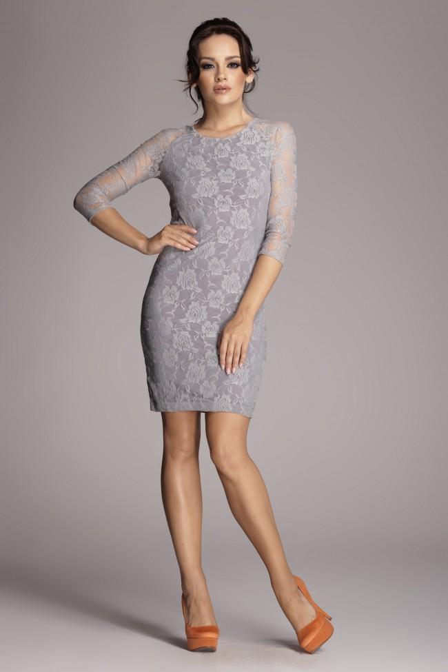 Dámské šaty Figl 76 šedá