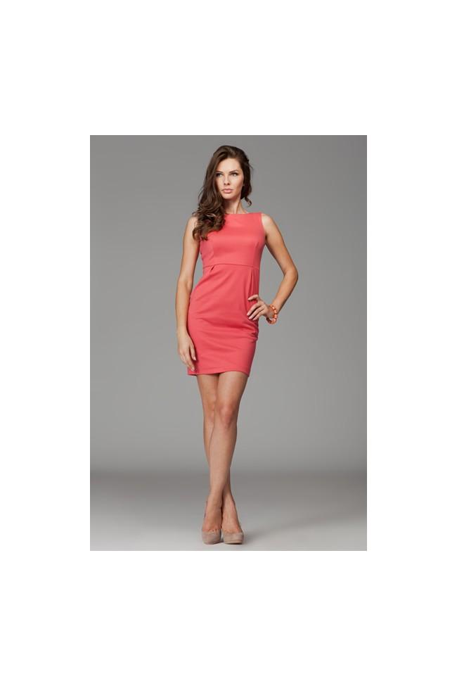 Dámské šaty Figl 79 korálové