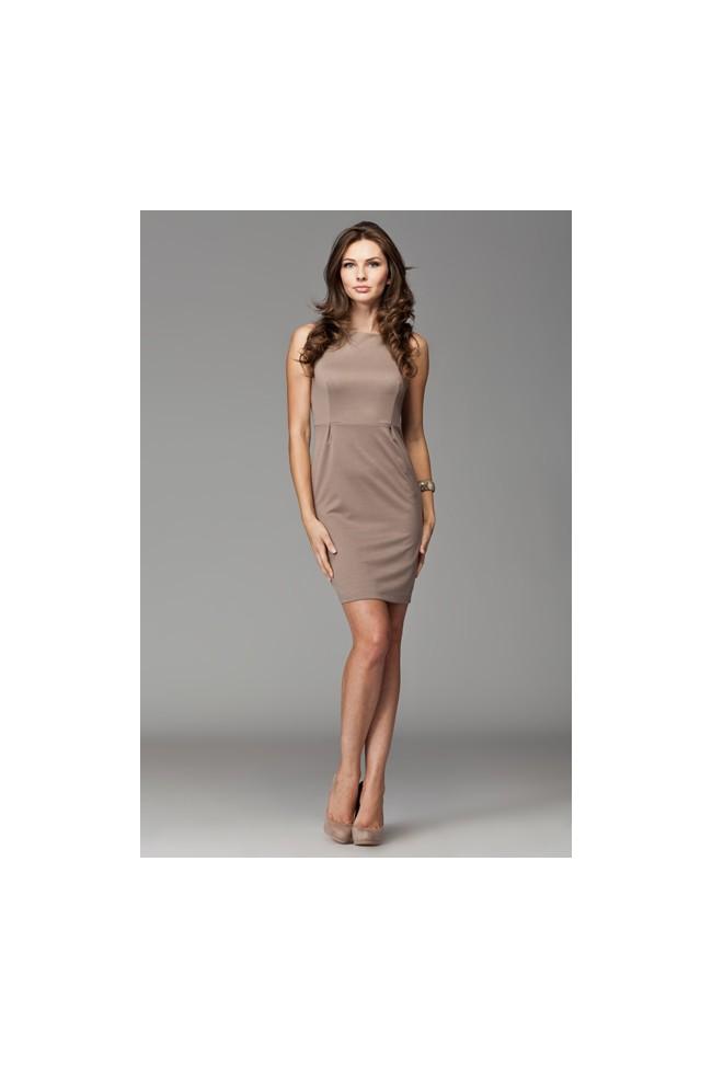 Dámské šaty Figl 79 moka