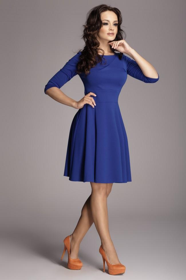 Dámské šaty Figl 81 modré