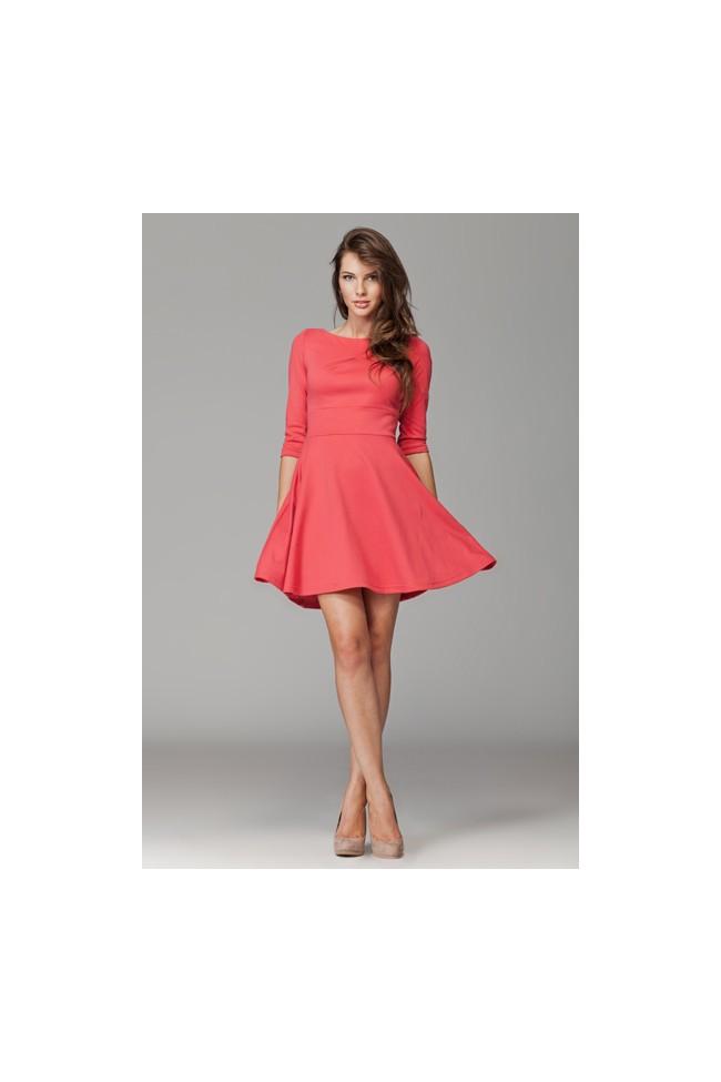 Dámské šaty Figl 81 korálové