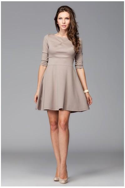 Dámské šaty Figl 81 moka