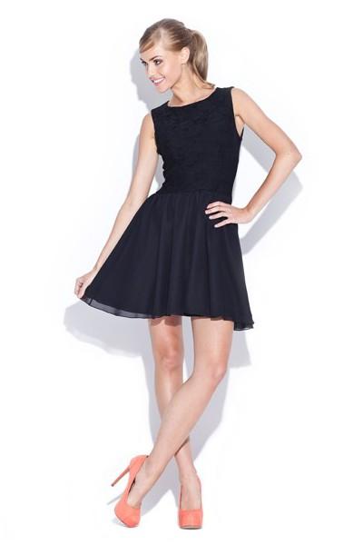 Figl dámské šaty M112 Black