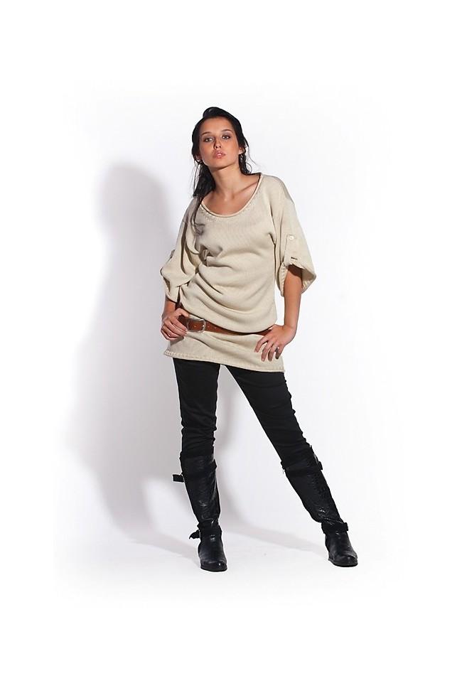Pletené šaty MKM Amanda béžové