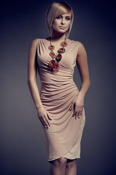 Dámské šaty Figl 53 béžové