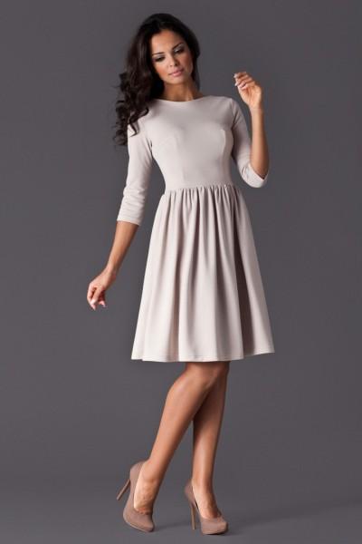 Dámské šaty Figl 117 béžové