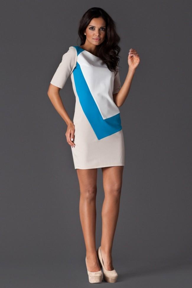 Dámské šaty Figl 118 modro-bílé