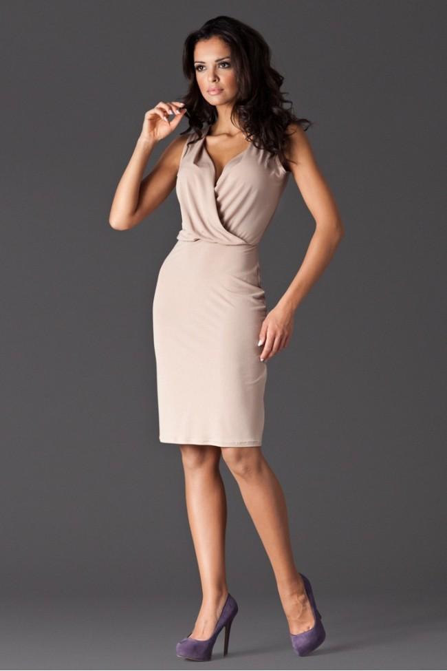 Dámské šaty Figl 135 béžové