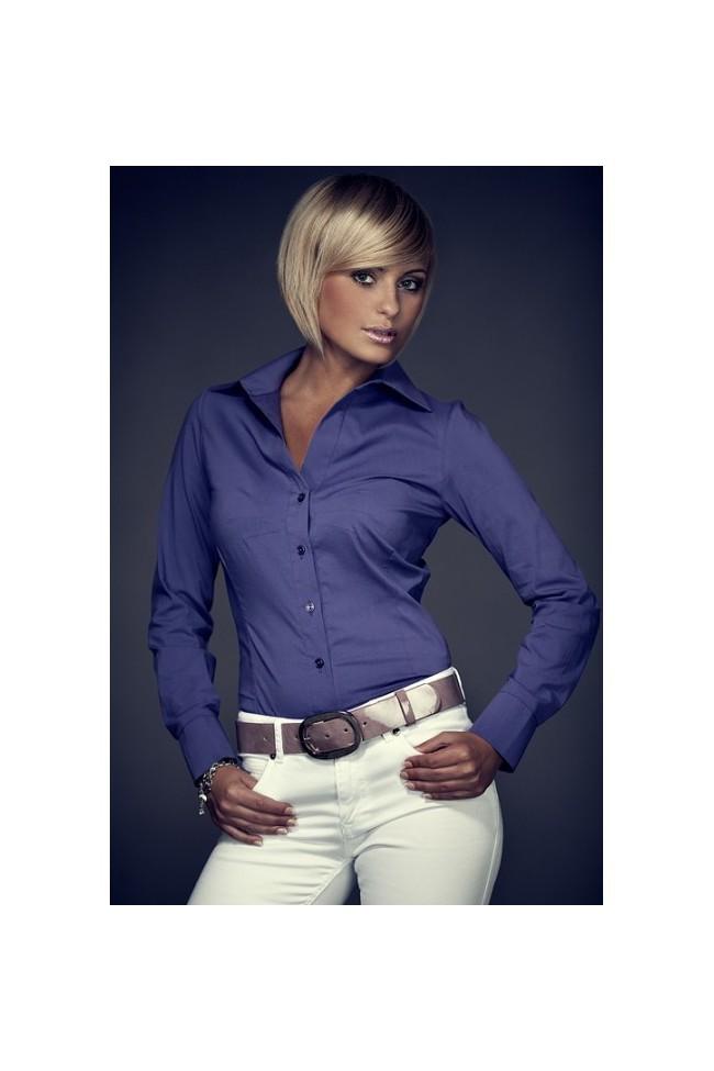 Košile Figl 21 tmavěfialová
