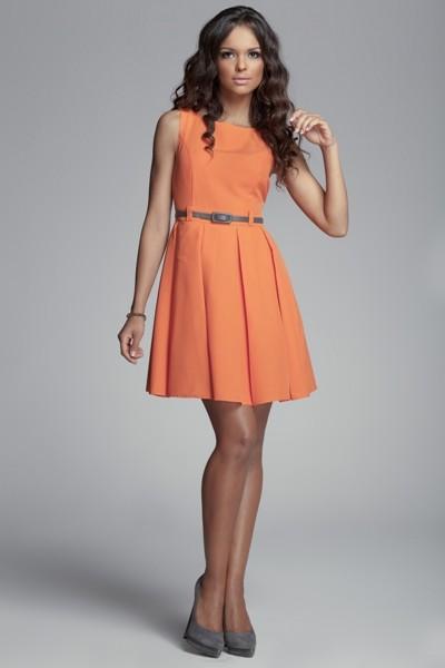 Dámské šaty Figl 83 oranžové