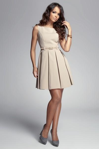 Dámské šaty Figl 83 béžové