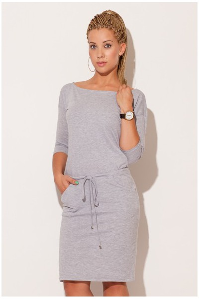 Dámské bavlněné šaty Figl M203 šedé