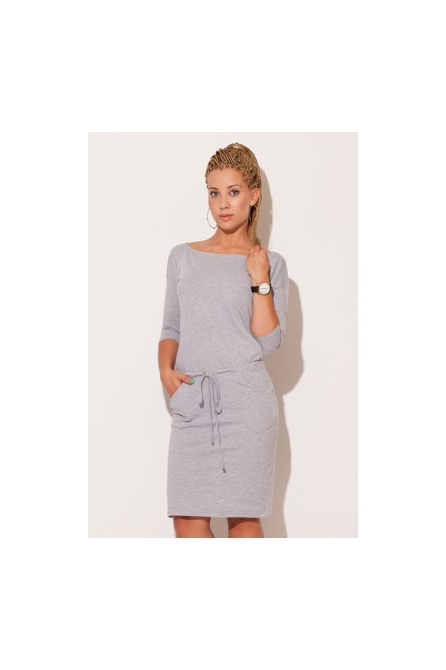 a5ef8dae93ca Dámské bavlněné šaty Figl M203 šedé