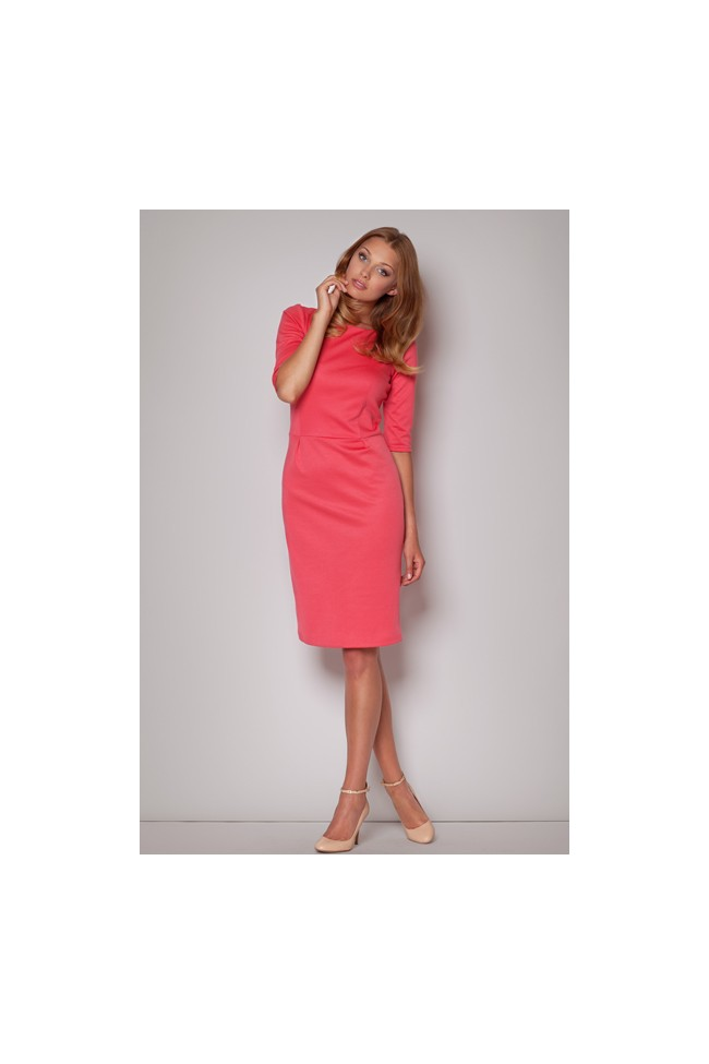 Dámské šaty Figl M202 korálové