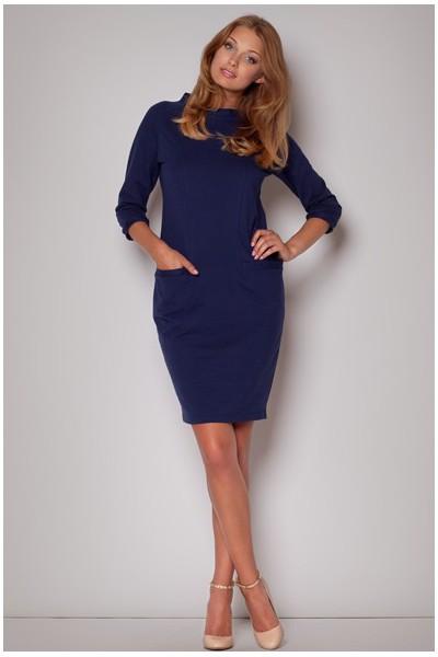 Dámské bavlněné šaty Figl  M205 modré