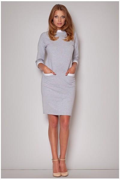 Dámské bavlněné šaty Figl  M205 šedé