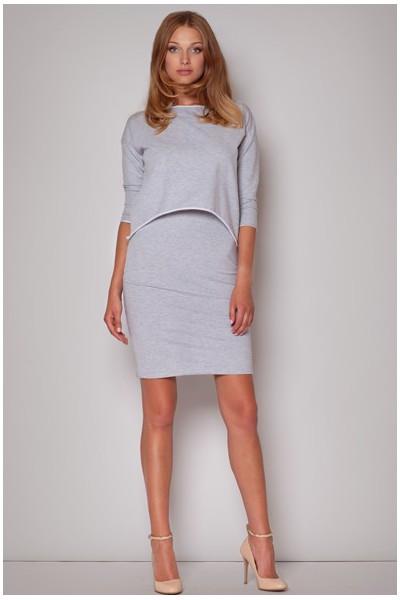 Dámské bavlněné šaty Figl  M206 šedé