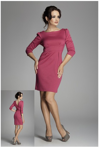 Dámské šaty Figl 82 purpurové