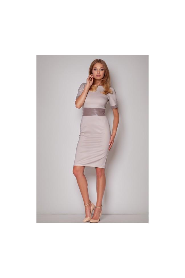 Dámské šaty Figl M204 béžové